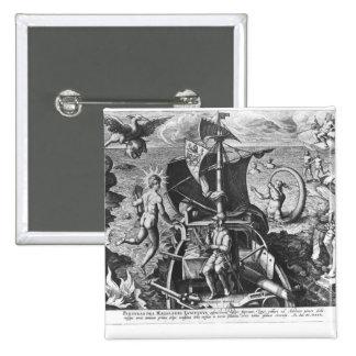 Ferdinand Magellan  on board his caravel, 1522 2 Inch Square Button