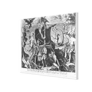 Ferdinand Magellan  on board his caravel, 1522 Canvas Print
