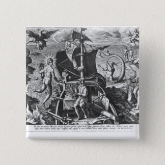 Ferdinand Magellan  on board his caravel, 1522 Pinback Button