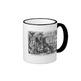 Ferdinand Magellan  on board his caravel, 1522 Ringer Mug