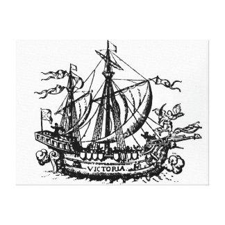 Ferdinand Magellan's boat 'Victoria' Canvas Print