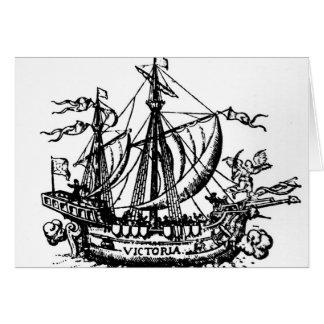 Ferdinand Magellan's boat 'Victoria' Card