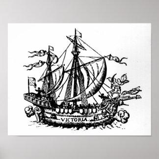 Ferdinand Magellan's boat 'Victoria' Poster