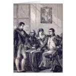 Ferdinand of Spain resigning his crown Card
