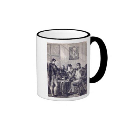 Ferdinand of Spain resigning his crown Ringer Mug