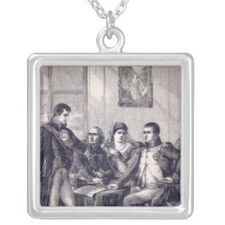 Ferdinand of Spain resigning his crown Silver Plated Necklace