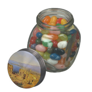 Ferdinand Waldmüller:The ruin of the Greek theater Glass Candy Jar