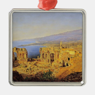 Ferdinand Waldmüller:The ruin of the Greek theater Christmas Tree Ornaments