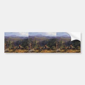 Ferdinand Waldmüller- Wienerwald landscape Bumper Sticker