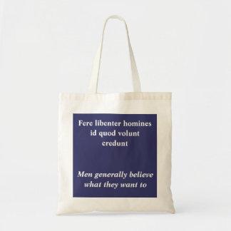 Fere libenter homines tote bag