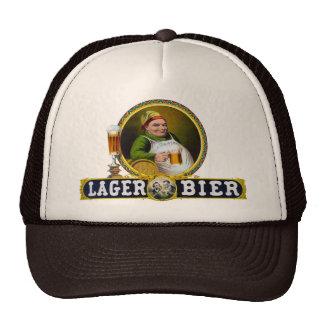 Féretro 1879 de la cerveza dorada del vintage gorras de camionero