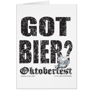 Féretro conseguida - Oktoberfest Tarjeta De Felicitación