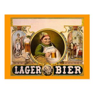 ¡Féretro de la cerveza dorada - la bebida sana! Tarjeta Postal
