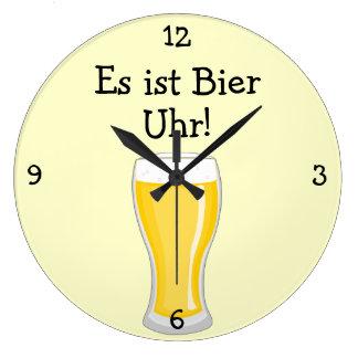 Féretro Uhr: Diversión de Oktoberfest del en punto Reloj Redondo Grande