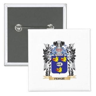 Fergie Coat of Arms - Family Crest 2 Inch Square Button