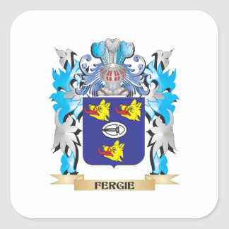 Fergie Coat of Arms - Family Crest Square Sticker