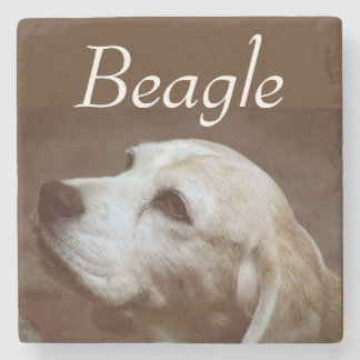 Fergie el beagle 2 posavasos de piedra