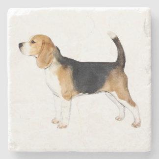 Fergie el beagle posavasos de piedra