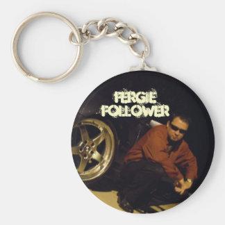 Fergie Follower Basic Round Button Keychain
