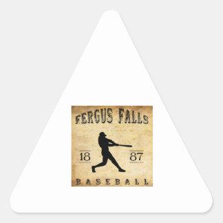 Fergus 1887 se cae béisbol de Minnesota Pegatina Triangular