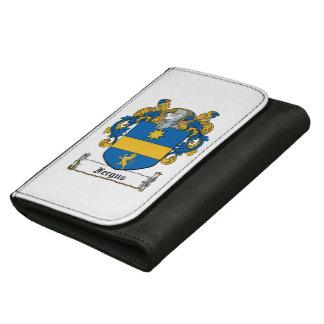 Fergus Family Crest Leather Wallet For Women