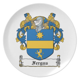 Fergus Family Crest Party Plate