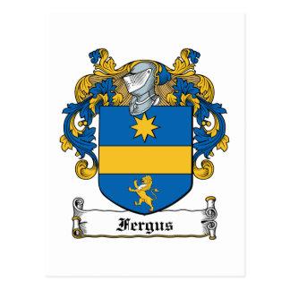Fergus Family Crest Postcard