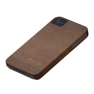 FERGUS Leather-look Customised Phone Case Case-Mate iPhone 4 Case