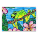 Fergus the Frog greeting card