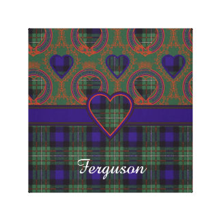 Ferguson clan Plaid Scottish tartan Stretched Canvas Print