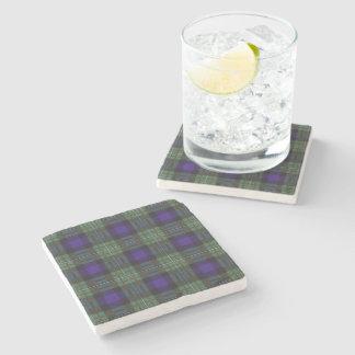 Ferguson clan Plaid Scottish tartan Stone Beverage Coaster