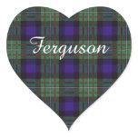 Ferguson clan Plaid Scottish tartan Heart Sticker