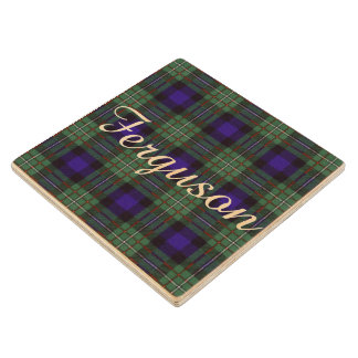 Ferguson clan Plaid Scottish tartan Wooden Coaster