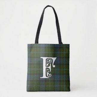 Ferguson Clan Tartan Monogram Tote Bag