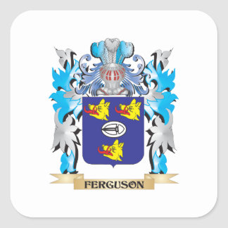 Ferguson Coat of Arms - Family Crest Square Sticker