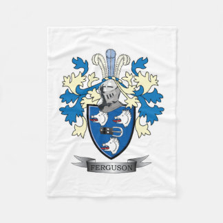 Ferguson Family Crest Coat of Arms Fleece Blanket