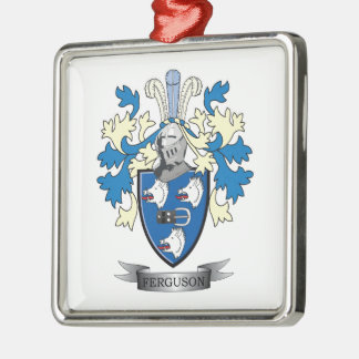 Ferguson Family Crest Coat of Arms Metal Ornament