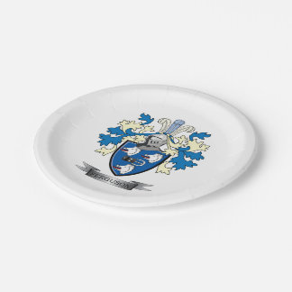 Ferguson Family Crest Coat of Arms Paper Plate