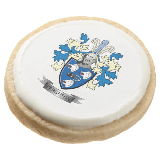 Ferguson Family Crest Coat of Arms Round Shortbread Cookie