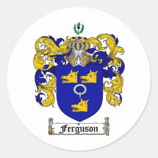 FERGUSON FAMILY CREST -  FERGUSON COAT OF ARMS CLASSIC ROUND STICKER
