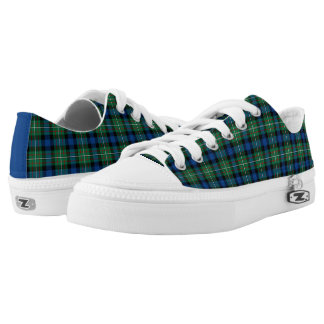Ferguson Family Royal Blue and Green Tartan Canvas Printed Shoes