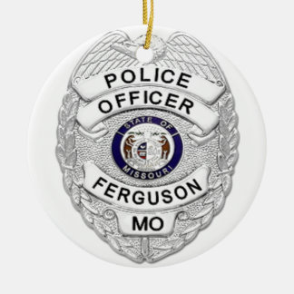 Ferguson Police Badge Ceramic Ornament