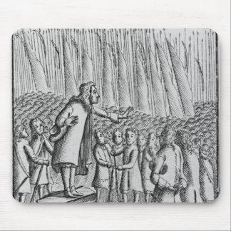 Ferguson que predica a los rebeldes el de día ante tapetes de ratones