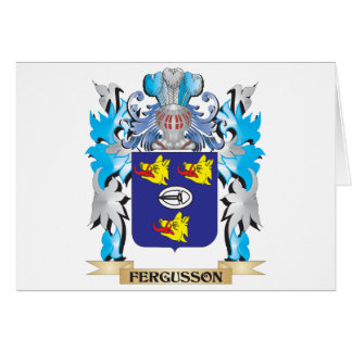 Fergusson Coat of Arms - Family Crest Card