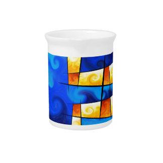 Fergussos V1 - digital abstract Beverage Pitcher