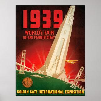 Feria 1939 de mundos de San Fransisco Póster