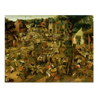 Feria con un funcionamiento de teatro, 1562 postal