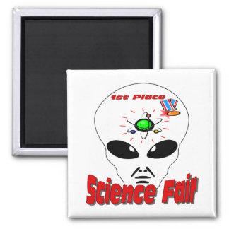 Feria de ciencia imán cuadrado