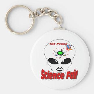 Feria de ciencia llavero redondo tipo pin