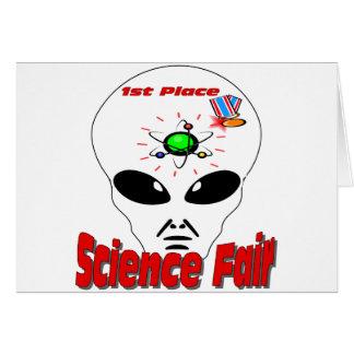 Feria de ciencia tarjeta de felicitación
